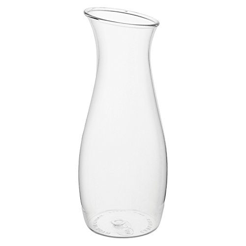 Carlisle 7090207 Cascata Carafe Juice Jar Beverage Decanter Only, Plastic, 1 L, Clear (Pack of 12)