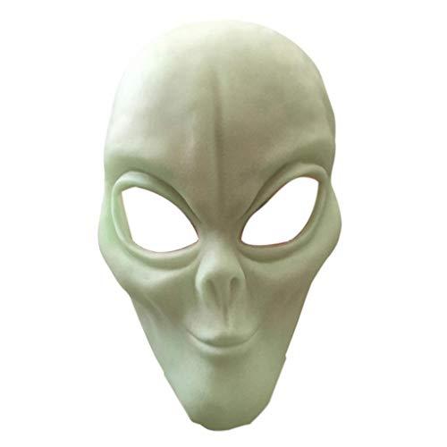 XILALU Halloween Horror Alien Head Mask, Scary Latex Headgear Party Cosplay Costume Props Walking Dead Toy Decor]()