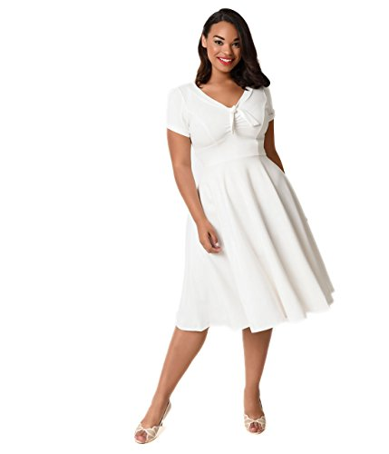 ivory 40s style dress - 5
