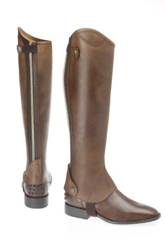 USG United Sportproducts Chaps Denver - Polainas / chaparreras de hípica, color marrón, talla XL+ (50/42)