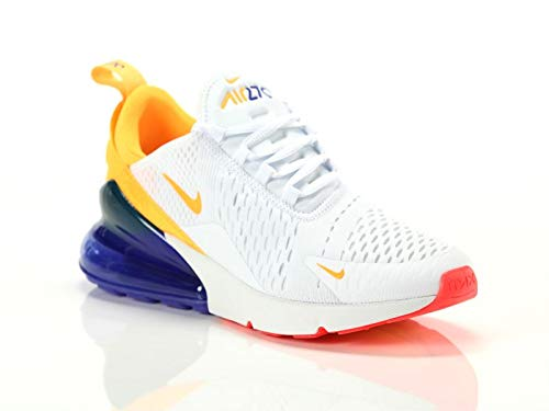 Nike Women's Air Max 270 Shoes(White/Violet/Yellow,6.5,B (M) US)
