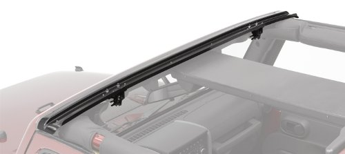 Drill Windshield Channel - Bestop 51243-01 Black Header Windshield Channel for 2007-2018 JK Wrangler 2-Door & 4-Door