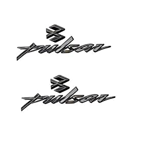 PINZU Bike Emblem Badge Decal Sticker 3D Chrome Tank Logo Pulsar Sticker(Set of 2)