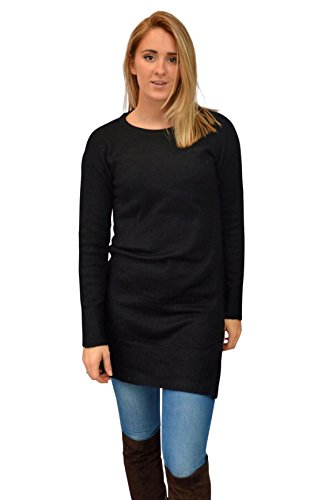 H&M Ladies Long Length Jumper Size L Black