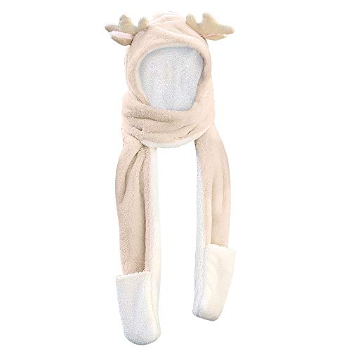 Egmy Gift for Friends Women Winter Imitation Cashmere Tassels Christmas Snowflakes Warm Scarves (C)