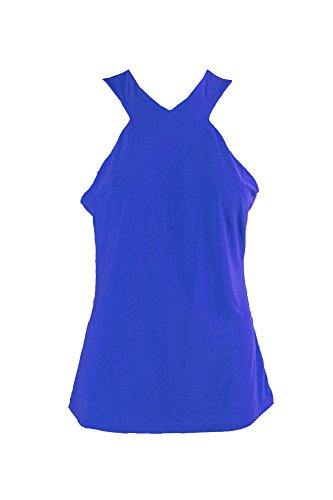 Lauren by Ralph Lauren Women's Medium Cutaway Blouse Blue M