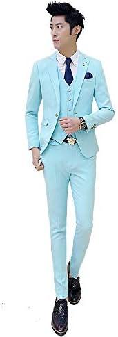 メンズ スーツ スリーピーススーツ ビジネススーツ スリム ベスト付き 3ピース セット 紳士服 礼服 就職スーツ スタイリッシュスーツ オールシーズン 一つボタン上下セットスーツ パーティースーツ カジュアル 大きいサイズ A1167