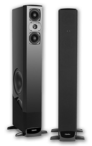 definitive technology tower speakers. definitive technology bp-8040st bipolar tower with built-in powered subwoofer, each speakers