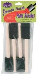 Bulk Buy: Royal Brush Foam Brush Set 1'' Width 4/Pkg RFOMW-4P (6-Pack)