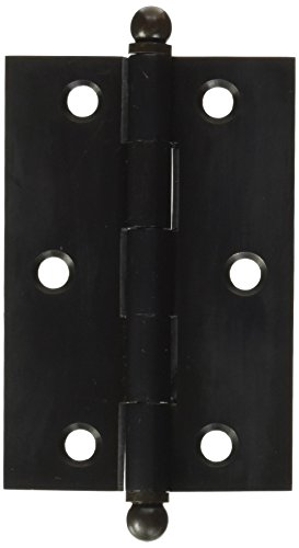 - Deltana CH3020U10B Solid Brass 3-Inch x 2-Inch Cabinet Hinge with Ball Tips