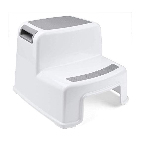 Celeoris Two Step Stool for Kids   Toddler Stool for Toilet Potty Training   Slip Resistant Soft Grip for Safety as