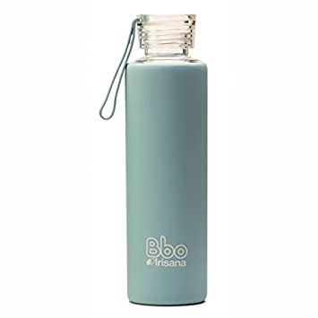 Irisana BBO Botella con Funda, Azul, 550 ml