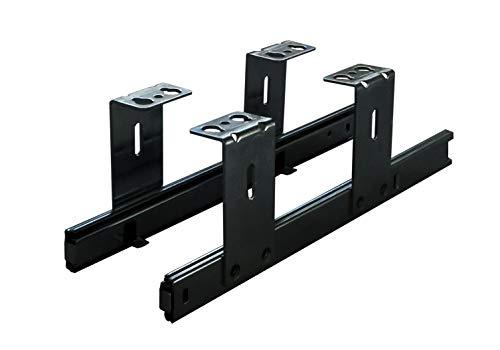 FIX&EASY Guias para bandeja y cajon, portateclados extraible deslizable negro 300mm, con extracto para teclado, raton y laptop
