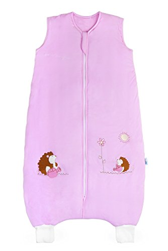 SlumberSafe Bamboo Sleeping Bag with Feet 2.5 Tog Pink Hedgehog 24-36 months Dream Teddy Sheet