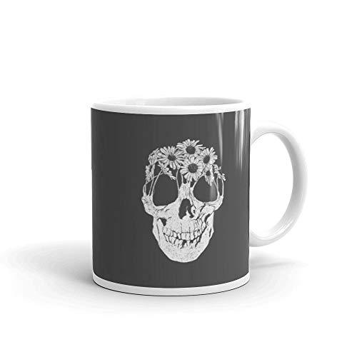 Pushing Daisies 11 oz Ceramic White Graphic Design, Printed Ceramic Coffee Mug Water Tea Drinks Cup ()