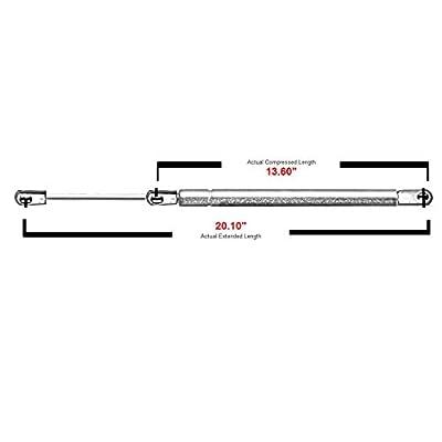 2 Pcs Liftgate Lift Supports Struts For 2002-2009 Chevrolet Trailblazer (Excluding XL EXT LT),2002-2004 Oldsmobile Bravada,2003-2008 Isuzu Ascender,2004-2007 Buick Rainier,2005-2009 Saab 9-7x 4573: Automotive