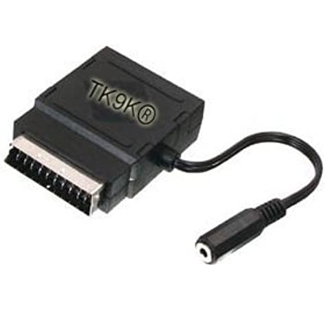 TK9K - Adaptador de enchufe de euroconector a conector jack de 3,5 mm, salida de audio de 3,5 mm: Amazon.es: Electrónica