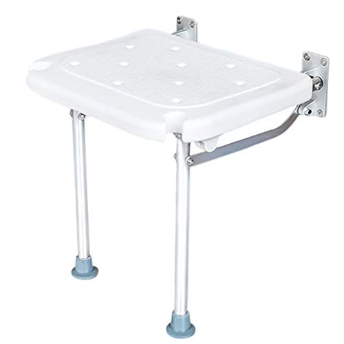 Shower Stainless Seats Steel (Folding Shower Seat Stool,Home Heavy Duty Bathroom Assist Bath Chair with Stainless Steel Bench Leg Anti-Slip Mat Load Capacity Up to 440lb)