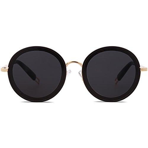 789c1f8506 En venta SOJOS Gafas De Sol Mujer Marco Metal Lentes Redondas SJ1076 ...
