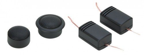 Soundstream TWS.1 1-Inch Xstream Series Soft Dome Tweeters, Set of 2, Black SOWDU
