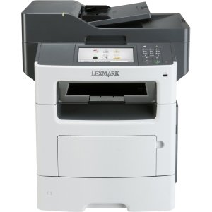 Lexmark MX611DE Laser Multifunction Printer - Monochrome - Plain Paper Print - Desktop - Copier/Fax/Printer/Scanner - 50 ppm Mono Print - 1200 x 1200 dpi Print - 50 cpm Mono Copy - Touchscreen - 1200 dpi Optical Scan - Automatic Duplex Print - 650 sheets