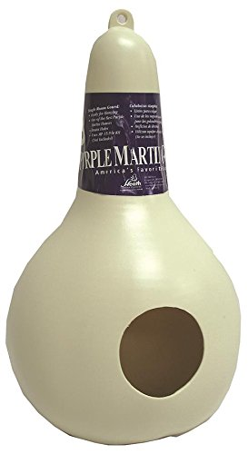 Purple Gourd Martin House (Heath Outdoor Products PMG-1 Single Room One Piece Round Hole Gourd)
