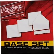 Rawlings Base Set - 3 Bases, Home Plate and Pitcher's Mound (Plate Mound Pitchers Home)
