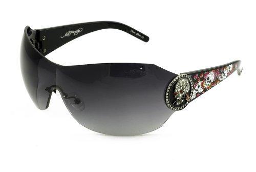 Ed Hardy EHS-042 Catcher Sunglasses - Black