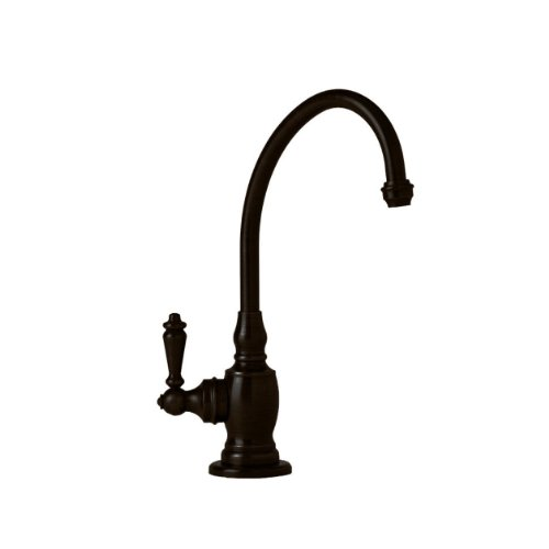 (Waterstone 1200C-ORB Hampton Filtration Faucet Cold Only with Single Lever Handle, Black Oil Rubbed Bronze)