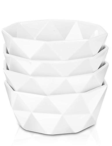 Delling 22 Oz Geometric Porcelain Soup/Cereal Bowls Set of 4, - Oven Ceramic Cleaning Self