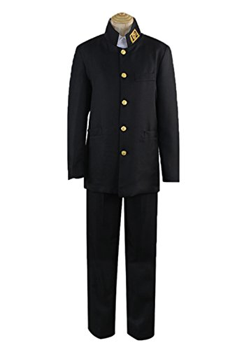 Japanese Costumes For Male (YSZYZX Men's Cosplay Japanese Anime School Uniform Chinese Tunic Suit,Asian Size M:Bust 39.3in(100cm),Black)