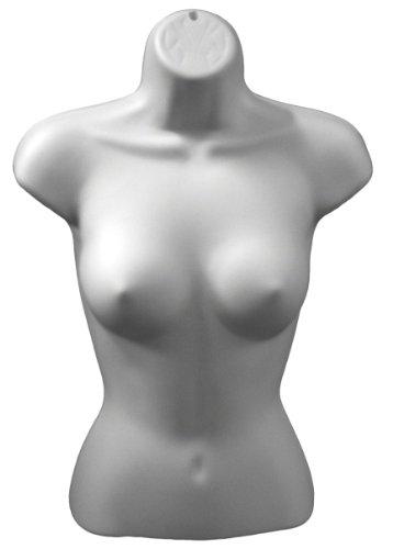 Plastic Mannequins XS157W White Female Torso Form