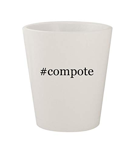 #compote - Ceramic White Hashtag 1.5oz Shot Glass