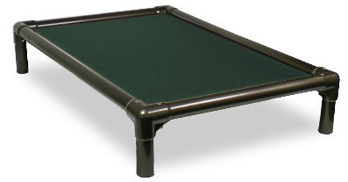 Kuranda Walnut PVC Chewproof Dog Bed - Large (40x25) - Cordura - Forest Green