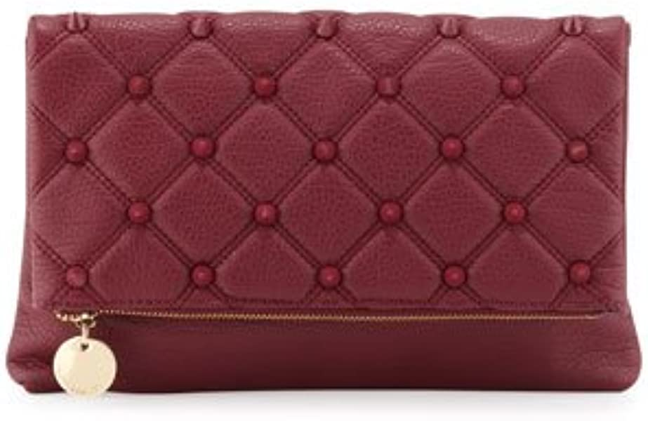 b7f8ea15e69 Deux Lux Fold-over Spiked Clutch Bag, Berry: Handbags: Amazon.com