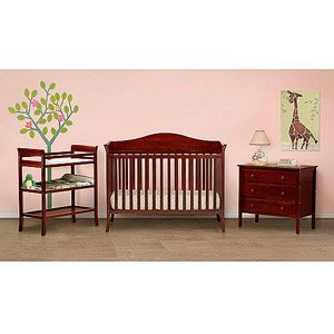 Baby Mod   Bella 4 In 1 Fixed Side Crib, Changing Table And