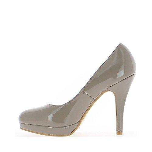 Rot Lack Schuhe, 10cm Absatz und Plateau von 1,5 cm