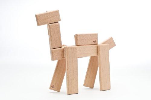 52 Piece Tegu Original Magnetic Wooden Block Set, Natural by Tegu (Image #2)