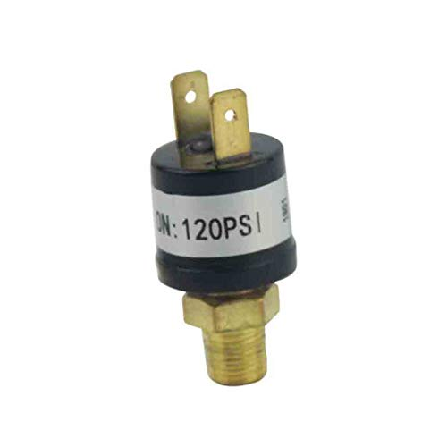 Tralntion Metal 120~150 PSI Air Compressor Control Switch Tank Pressure Control Valve 1/4'NPT Car Accessories