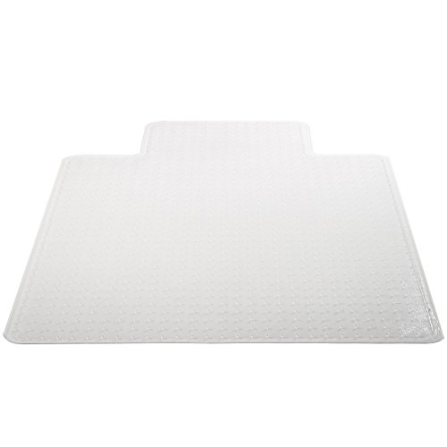 Deflecto SuperMat Clear Chair Mat, Medium Pile Carpet Use, Rectangle With Lip, Beveled Edge, 45 x 53 Inches (CM14233COM) Rectangle Mat