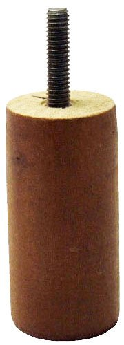 """3"""" Tall Walnut Replacement Wooden Sofa Legs (Set of 4), For Couch and Furniture"""