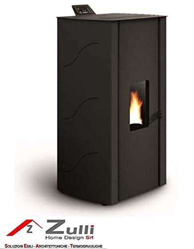 Estufa de pellets Palazzetti Ecofire Malu 8,14 kW, negro ...