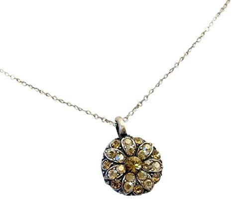 Mariana Guardian Angel Dark Champagne Swarovski Crystal Pendant Necklace - Ayala Bar Crystal