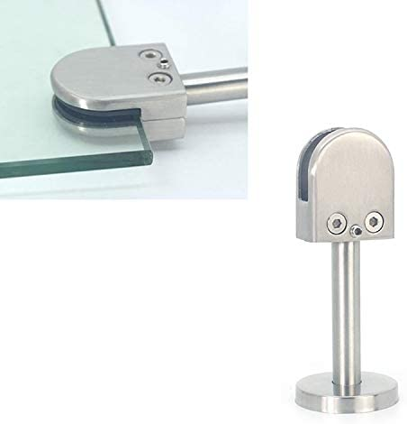 Specification Bathroom balcony glass fixing clip 304 Stainless Steel Glass Fish Mouth Support Rod Fixing Clip with 14x80mm Rod M