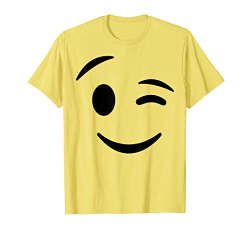 Halloween Parties Ideas 2019 (Halloween Emojis Costume Shirt Winking Face Wink Emoticon)