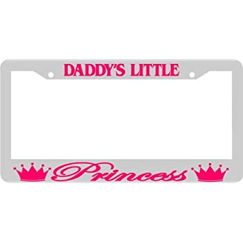 Amazon.com: Daddy\'s Little Princess Chrome/pink License Plate Frame ...