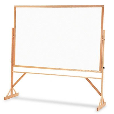 Quartet Reversible Porcelain Whiteboard, 4 x 6 Feet, Includes Accessory Rail, Hardwood Frame (WPR406-402) by Quartet