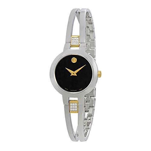 - Movado Amorosa Black Dial Ladies Bangle Watch 0607185