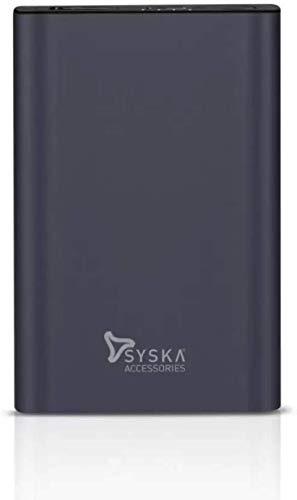 Syska 5000 mAh Power Bank  Blue, Lithium Polymer