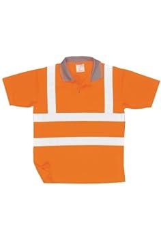 Regular Size: 2X-Large Orange Portwest RT22ORRXXL Series RT22 Hi-Vis Short Sleeved Polo GO//RT